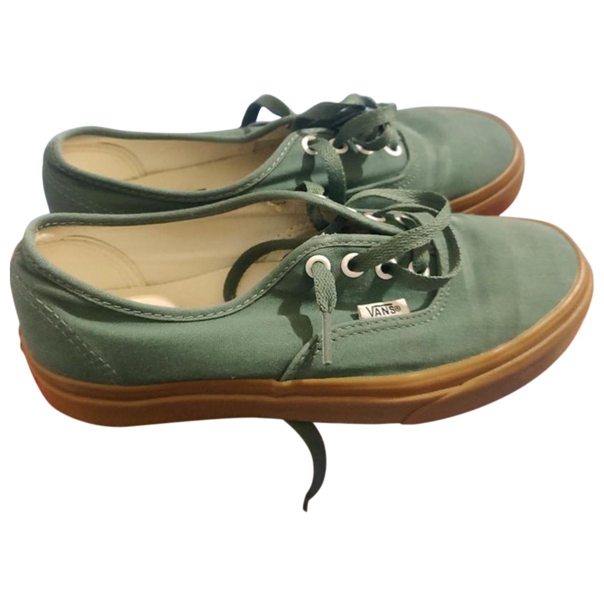 Vans - Baskets   pour femme en caoutchouc - vert