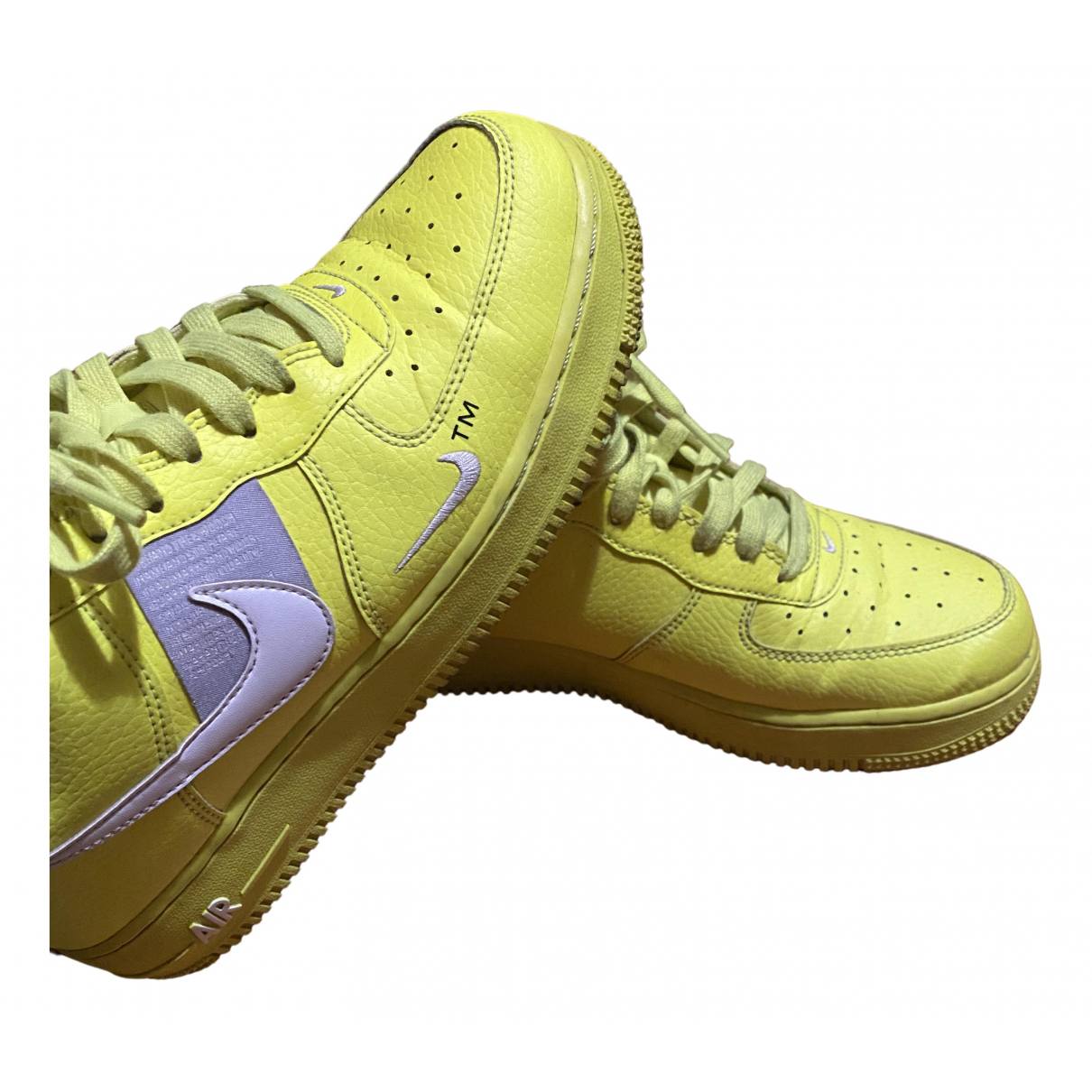 Nike Air Force 1 Green Rubber Trainers for Men 40 EU