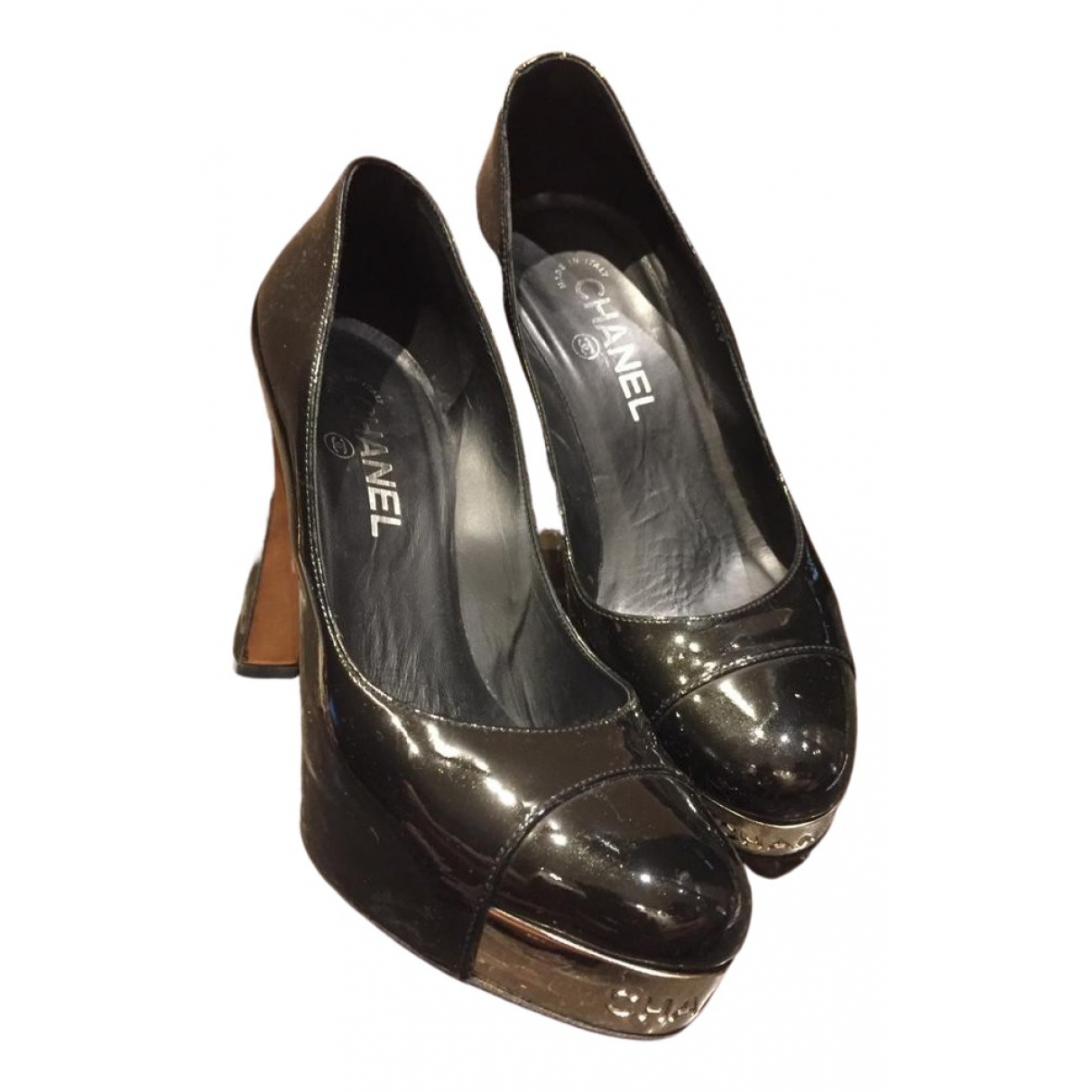Chanel \N Black Patent leather Heels for Women 38 EU