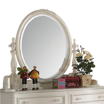BM207503 Elegant Wooden Framed Oval Shape Mirror with Beveled Edges