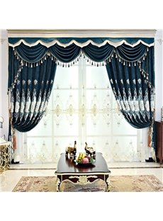 European Royal Fancy Organza Embroidery Decorative Custom Sheer Curtain for Living Room