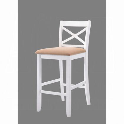 Tobie Collection 96722 Set of 2 Bar Chairs with Fabric Seat Cushion  Wooden