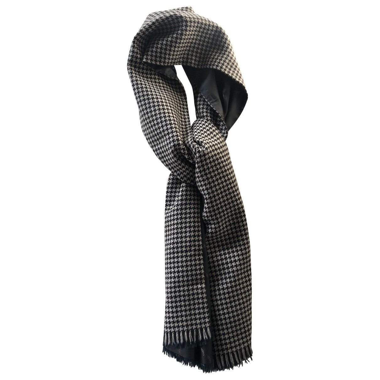 Non Signé / Unsigned \N Grey Wool scarf & pocket squares for Men \N