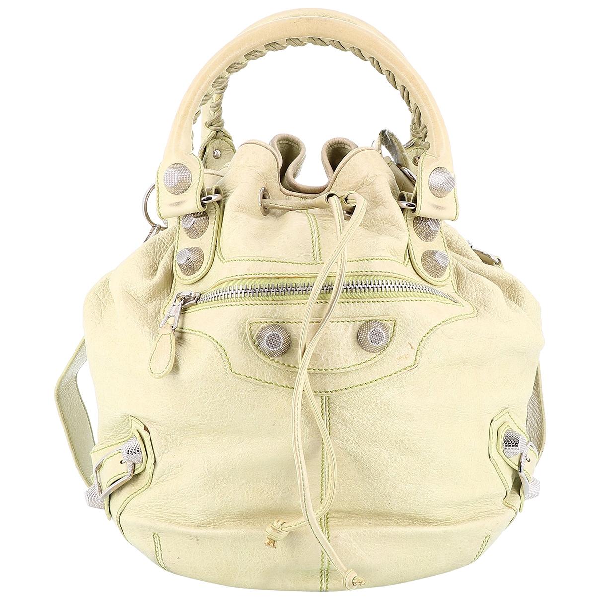 Balenciaga Pompon Beige Leather handbag for Women \N