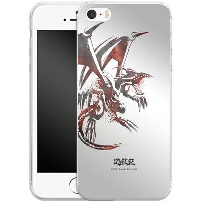 Apple iPhone SE Silikon Handyhuelle - Red-Eyes B. Dragon von Yu-Gi-Oh!