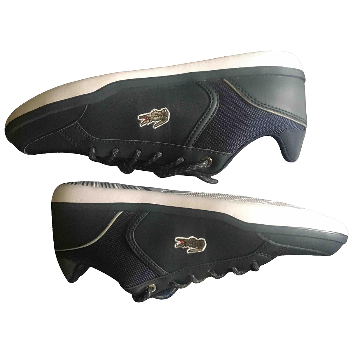 Lacoste \N Blue Leather Trainers for Women 39.5 EU