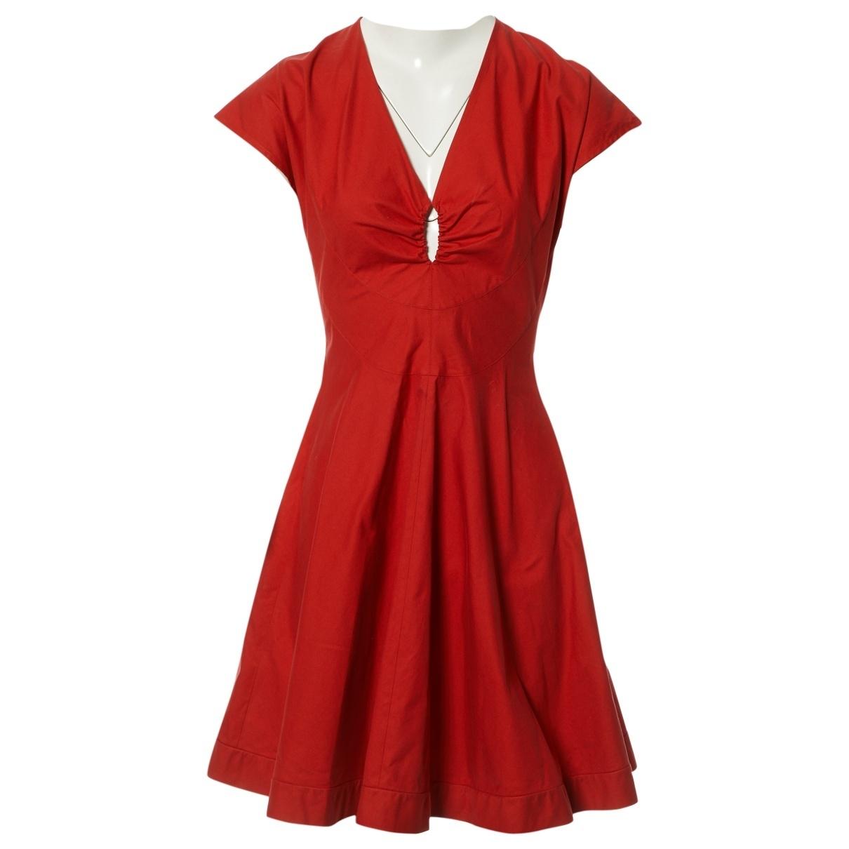 Alaïa N Red Cotton dress for Women 38 FR