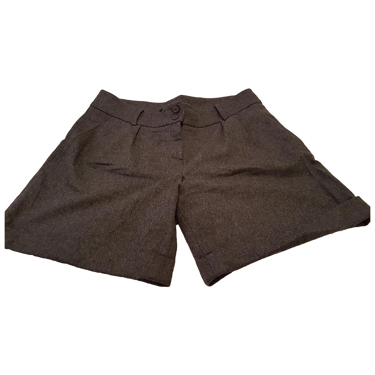 Tara Jarmon \N Grey Wool Shorts for Women 40 FR
