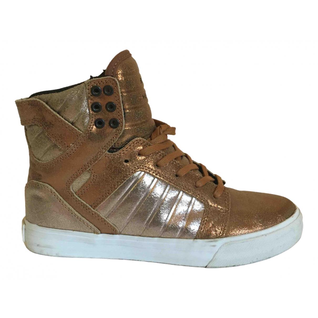 Supra \N Sneakers in  Metallic Leder