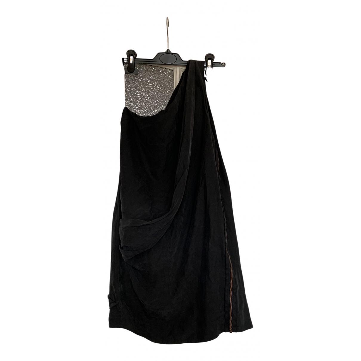 Acne Studios - Robe   pour femme en soie - anthracite