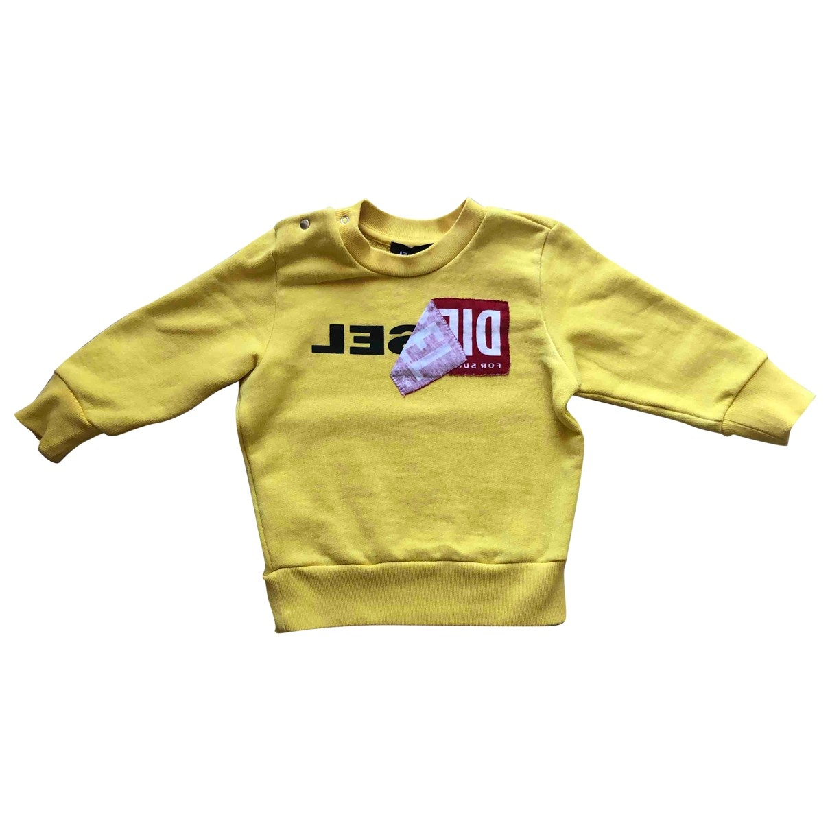 Diesel \N Yellow Cotton Knitwear for Kids 12 months - until 29 inches UK