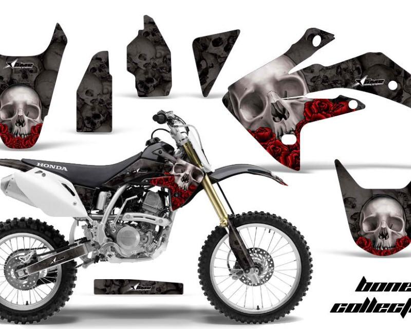 AMR Racing Dirt Bike Graphics Kit Decal Sticker Wrap For Honda CRF150R 2007-2016áBONES BLACK
