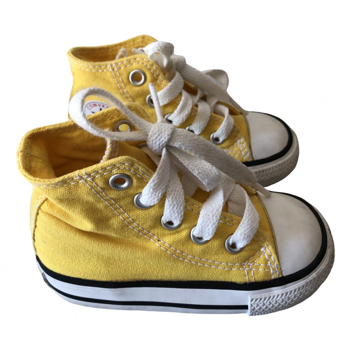Converse - Baskets   pour enfant en toile - jaune