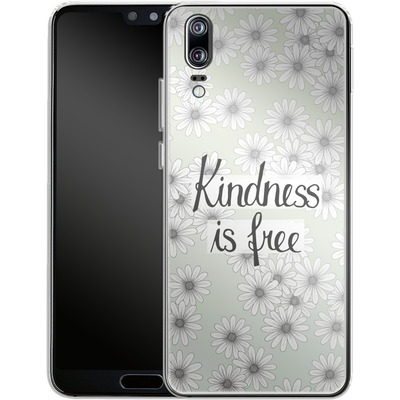 Huawei P20 Silikon Handyhuelle - Kindness is Free von Barlena