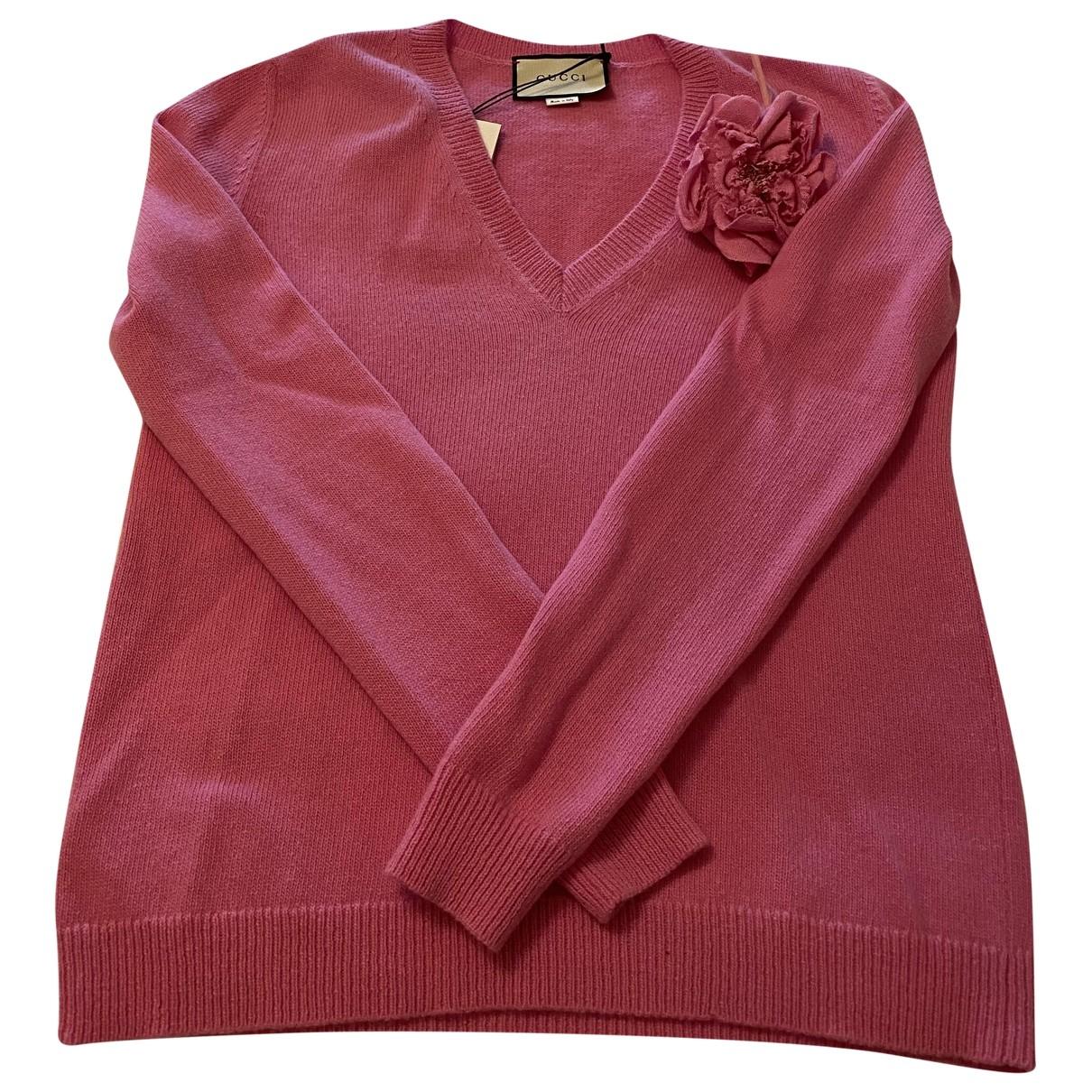 Gucci \N Pullover in  Rosa Kaschmir