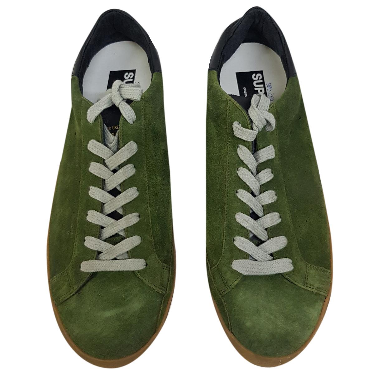 Golden Goose - Baskets   pour homme en suede - vert