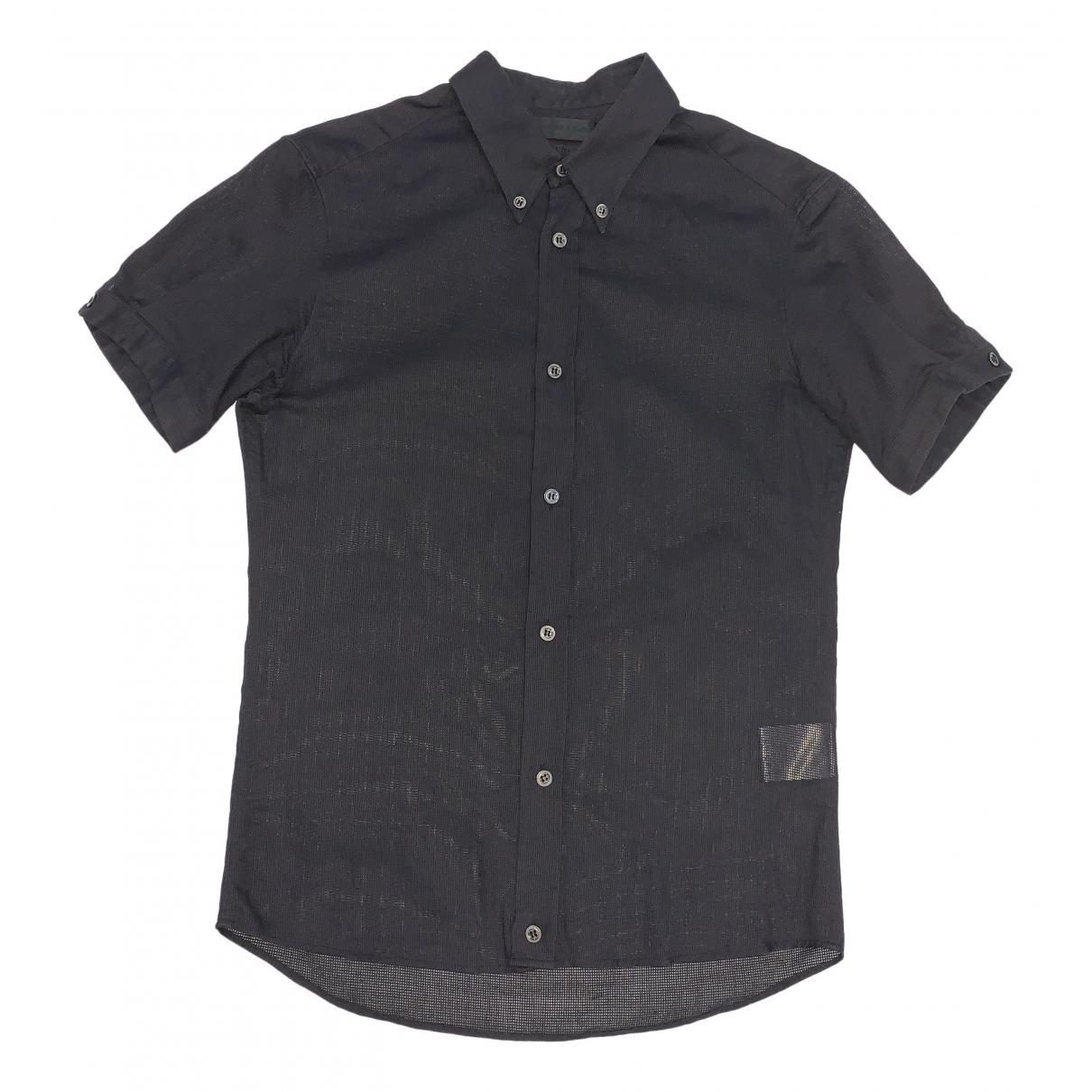 Alexander Mcqueen \N Black Cotton Shirts for Men XS International