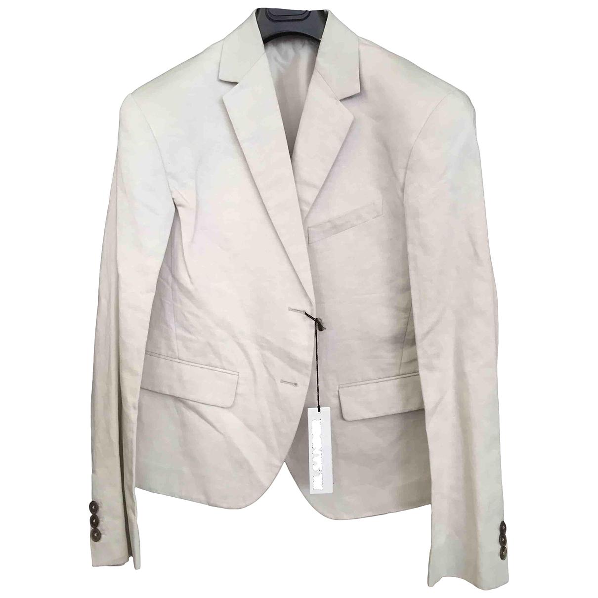 Jil Sander - Vestes.Blousons   pour homme en coton - blanc
