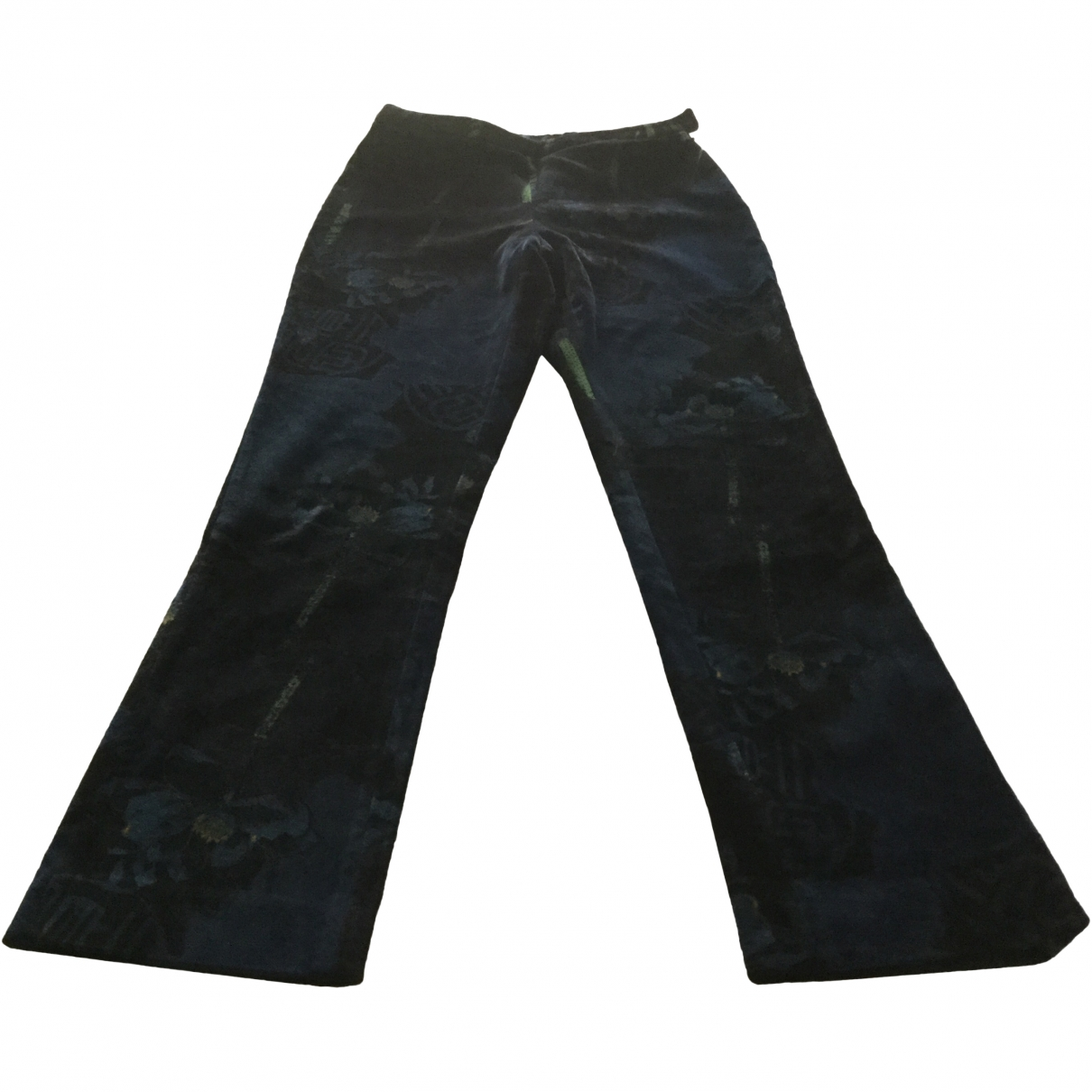 Kenzo \N Blue Velvet Trousers for Women 38 FR