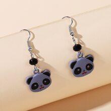 Cartoon Panda Drop Earrings