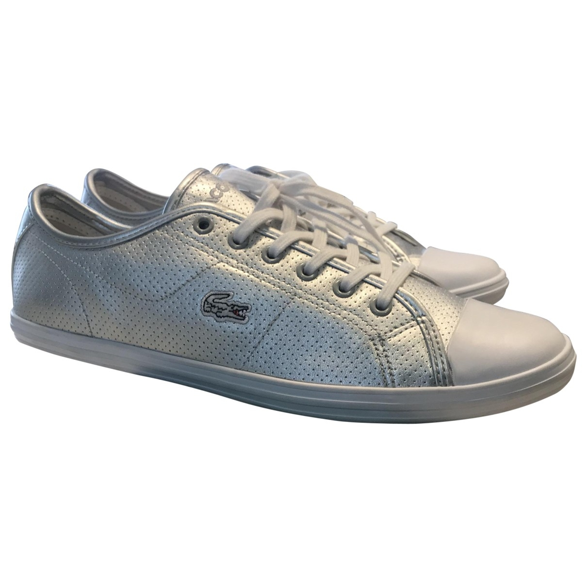 Lacoste \N Silver Leather Trainers for Women 40 EU