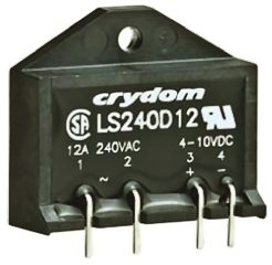 Sensata / Crydom 12 A SPST Solid State Relay, Zero Cross, PCB Mount, SCR, 280 V rms Maximum Load