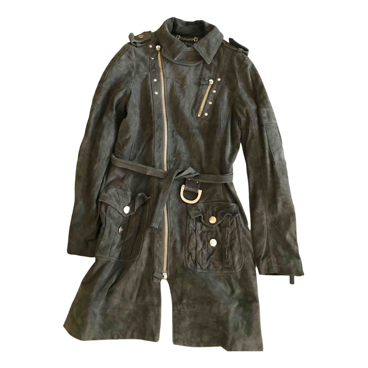 Gucci N Green Suede jacket for Women 42 IT