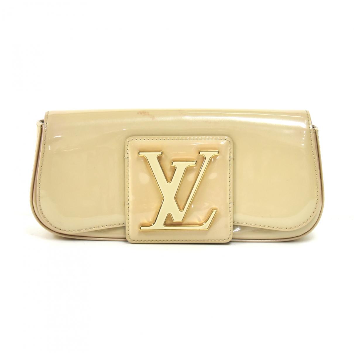 Louis Vuitton - Pochette Sobe pour femme en cuir verni - beige