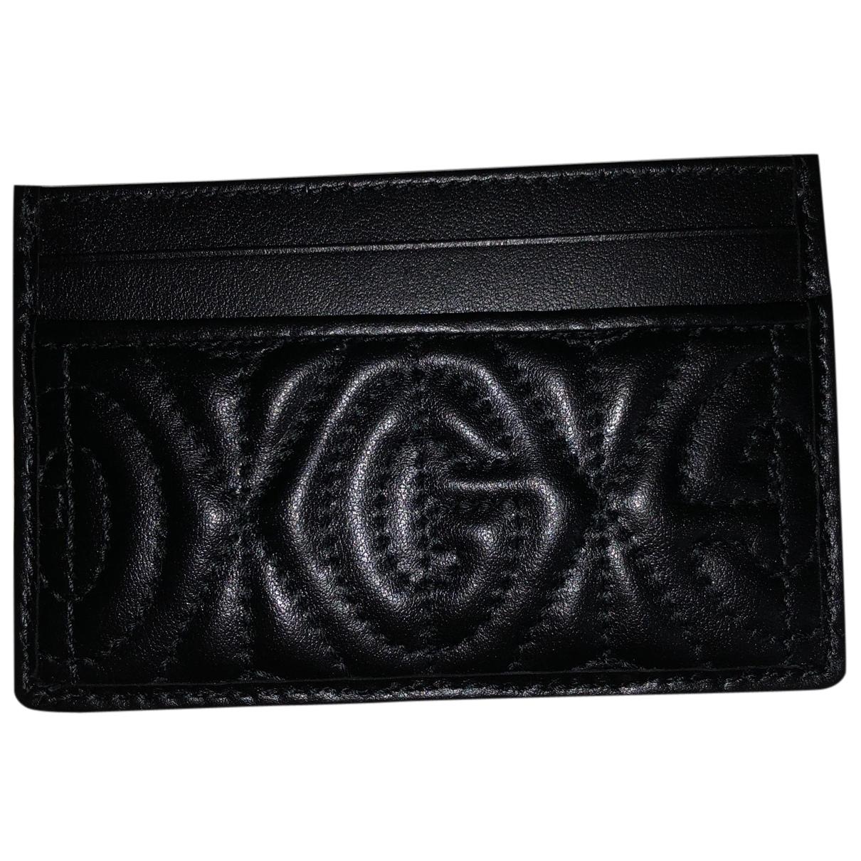 Gucci \N Kleinlederwaren in  Schwarz Leder