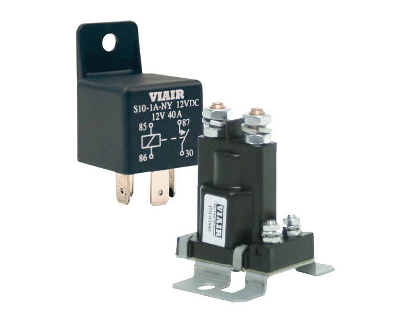 VIAIR 40-Amp Relay 12V with Molded Mounting Tab (40A -12V)