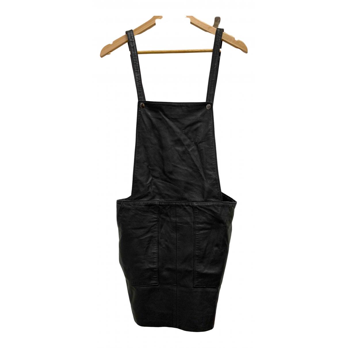 Designers Remix \N Kleid in  Schwarz Leder