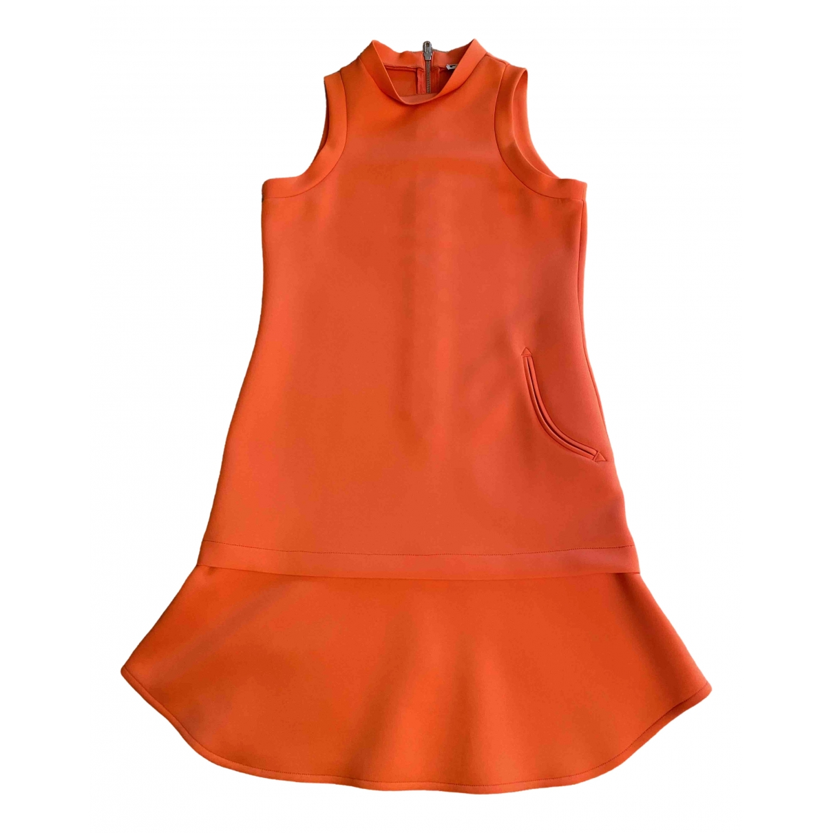 Non Signe / Unsigned \N Kleid in  Orange Polyester