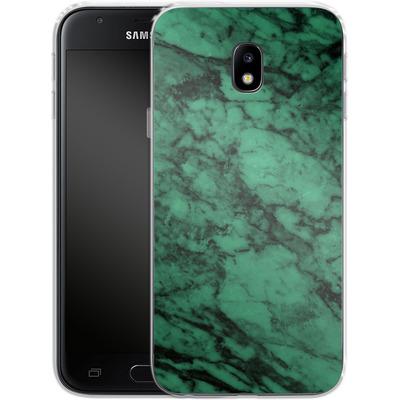 Samsung Galaxy J3 (2017) Silikon Handyhuelle - Green Marble von caseable Designs