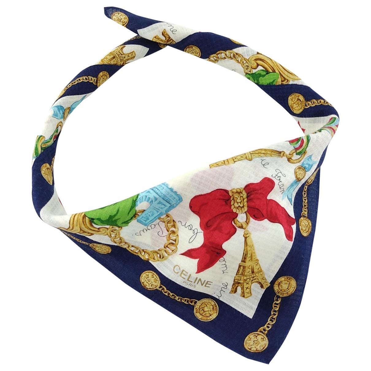 Celine \N Multicolour Cotton scarf & pocket squares for Men \N
