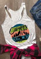 Camper Life O-Neck Tank - Light Grey