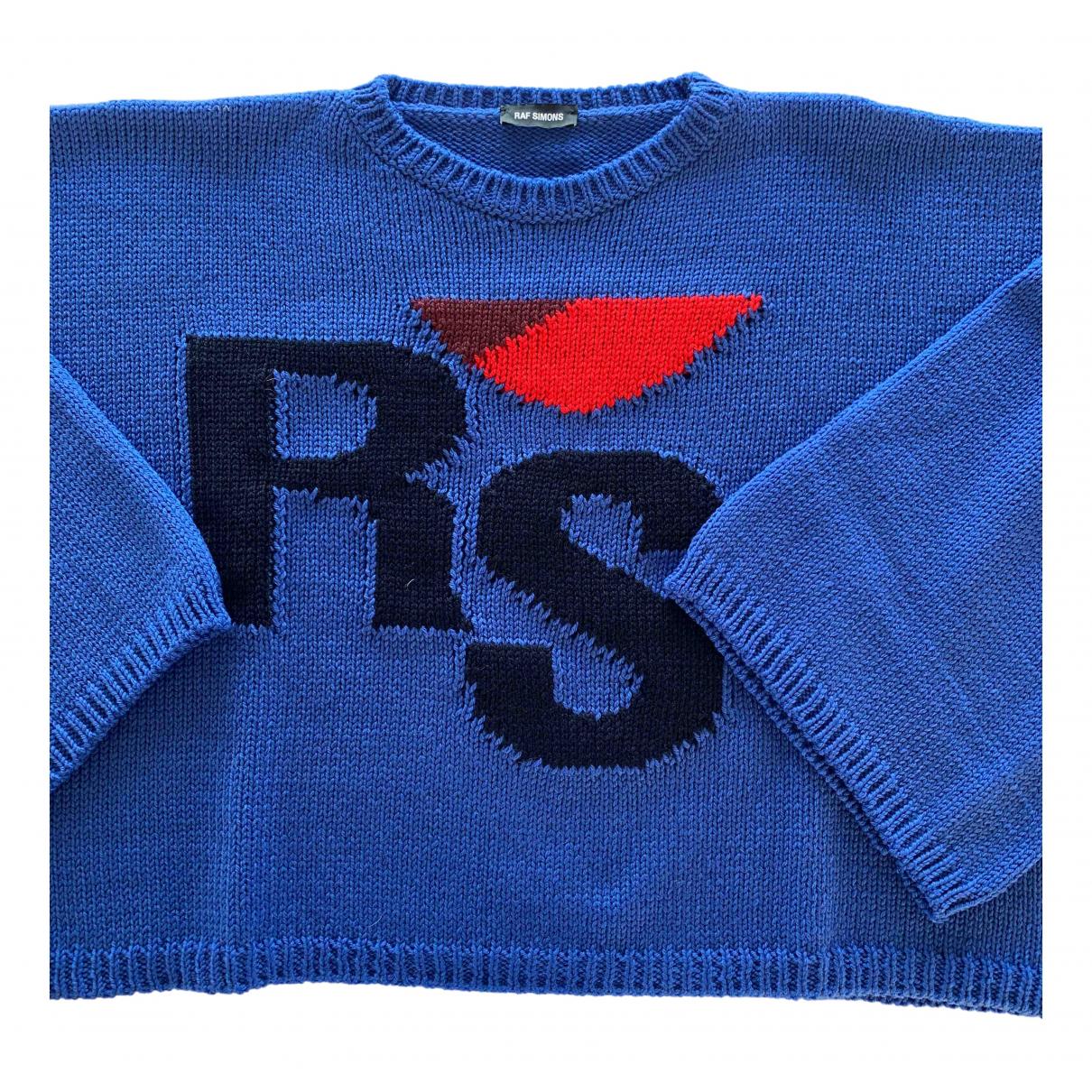 Raf Simons \N Pullover.Westen.Sweatshirts  in  Blau Wolle