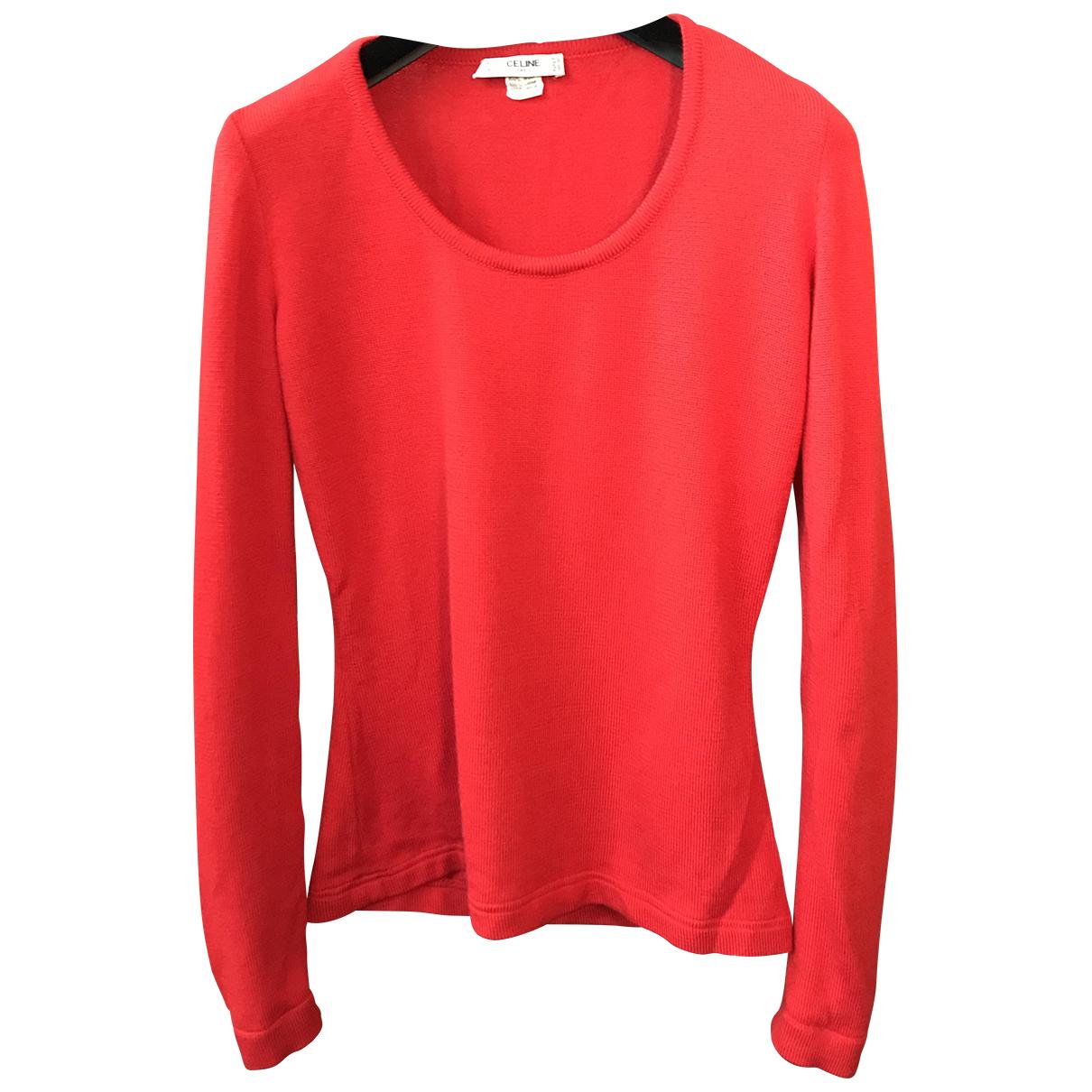 Celine - Pull   pour femme en laine - rouge