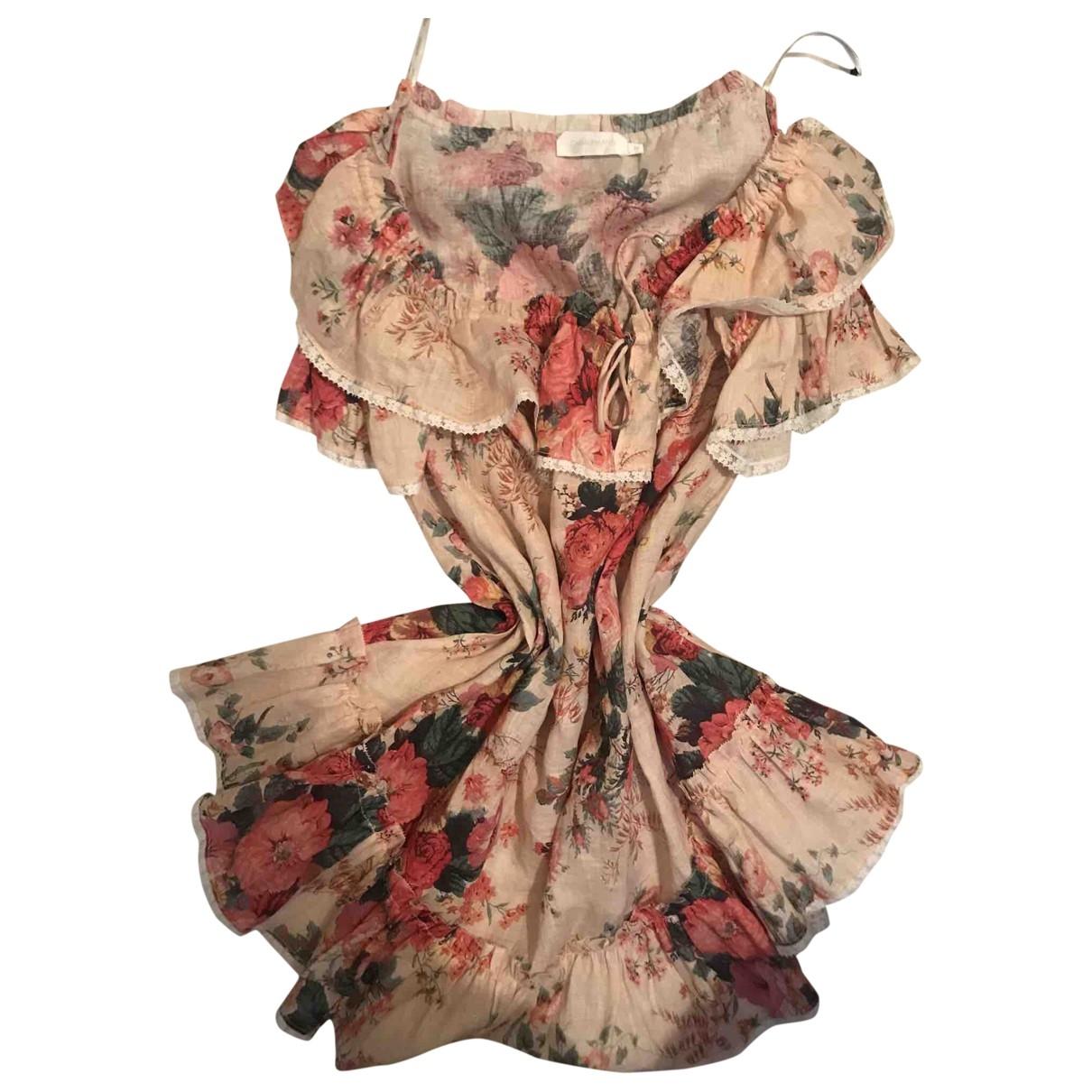 Zimmermann \N Multicolour Linen dress for Women 2 0-5