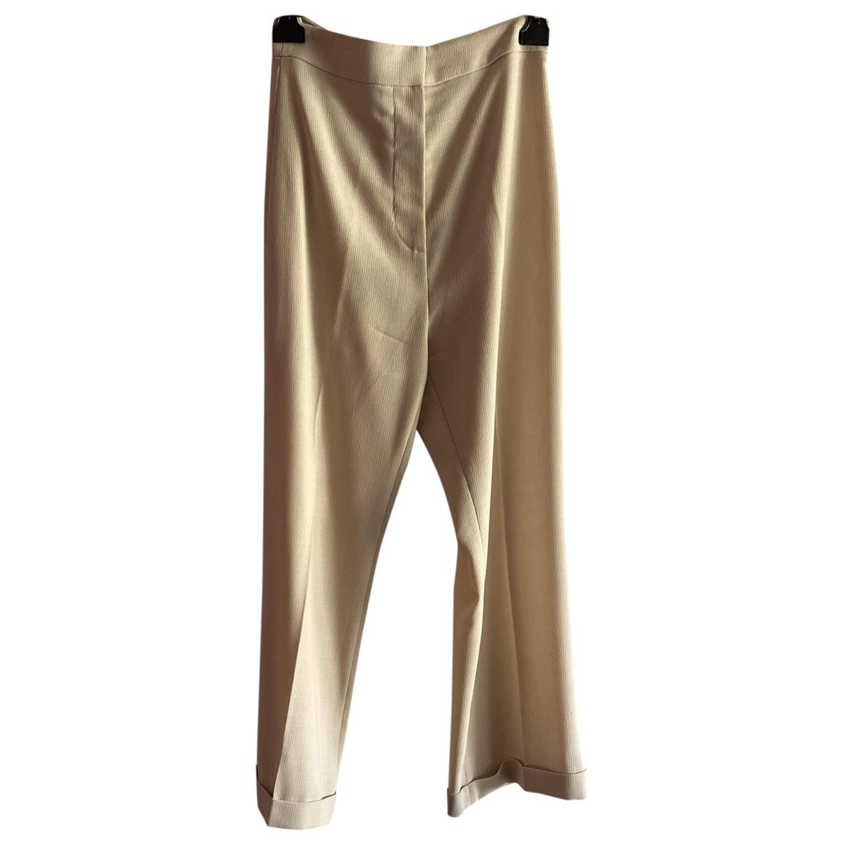 Jacquemus La Riviera Beige Trousers for Women 38 FR