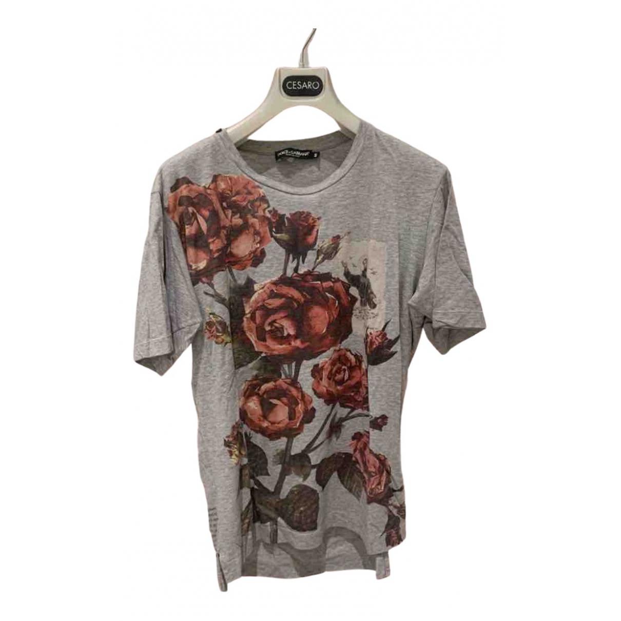 Dolce & Gabbana \N T-Shirts in  Grau Baumwolle