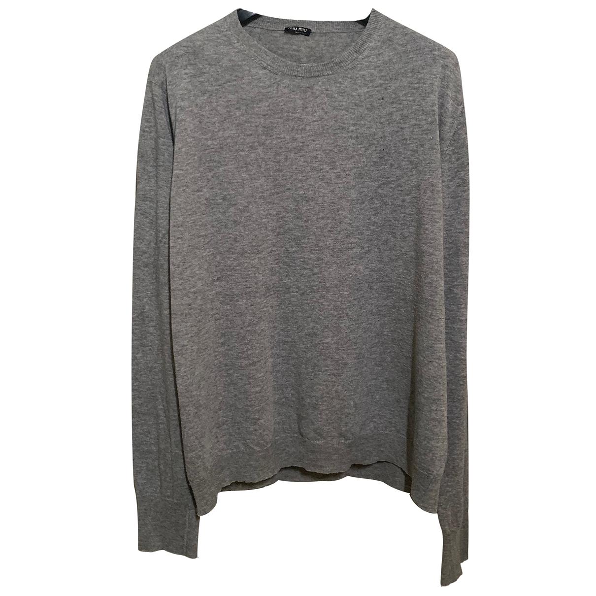 Miu Miu \N Pullover.Westen.Sweatshirts  in  Grau Polyester
