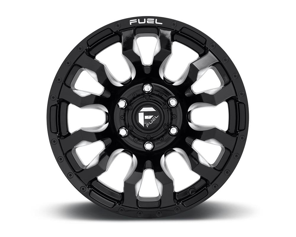 Fuel D673 Blitz Gloss Black & Milled 1-Piece Cast Wheel 22x12 5x127 -44mm