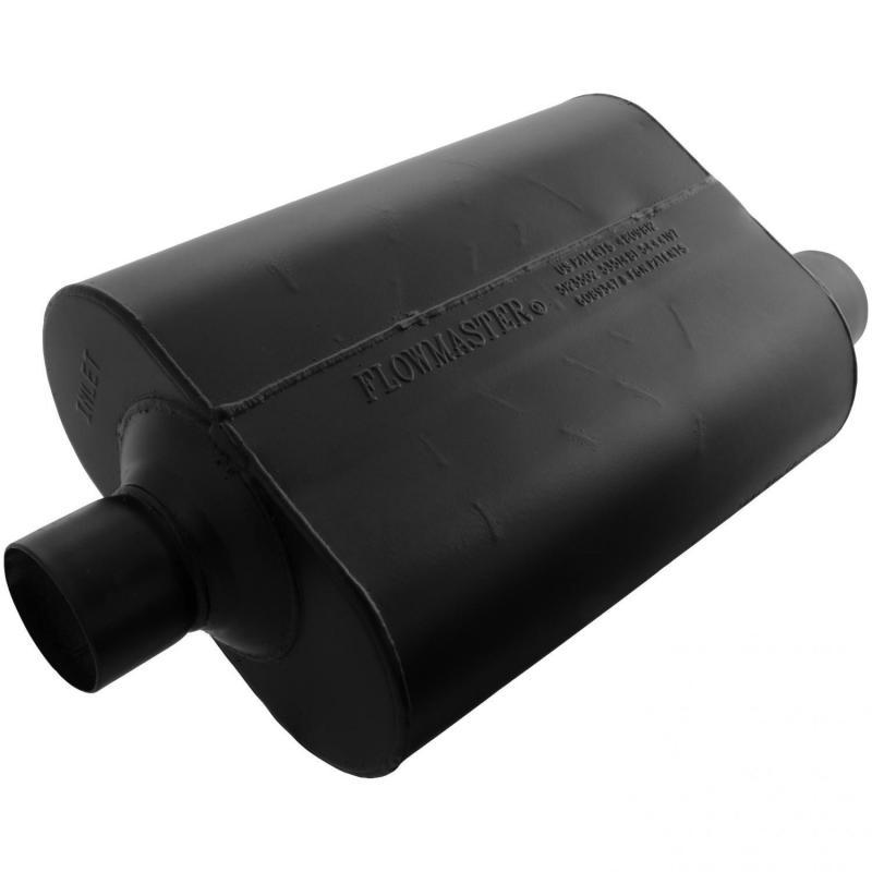 Flowmaster 952547 Super 40 Muffler - 2.50 Center In / 2.50 Offset Out - Aggressive Sound