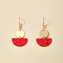 Semicircle Charm Drop Earrings