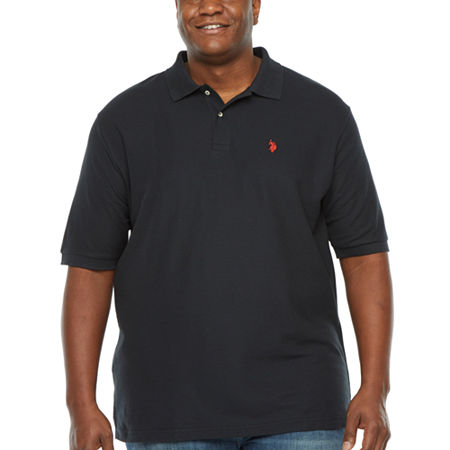 U.S. Polo Assn. Big and Tall Mens Short Sleeve Polo Shirt, X-large Tall , Black