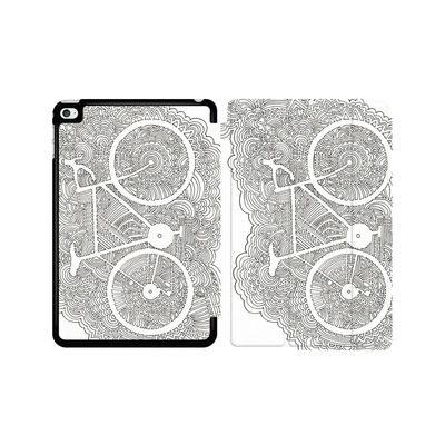 Apple iPad mini 4 Tablet Smart Case - Bike Drawing Meditation von Kaitlyn Parker