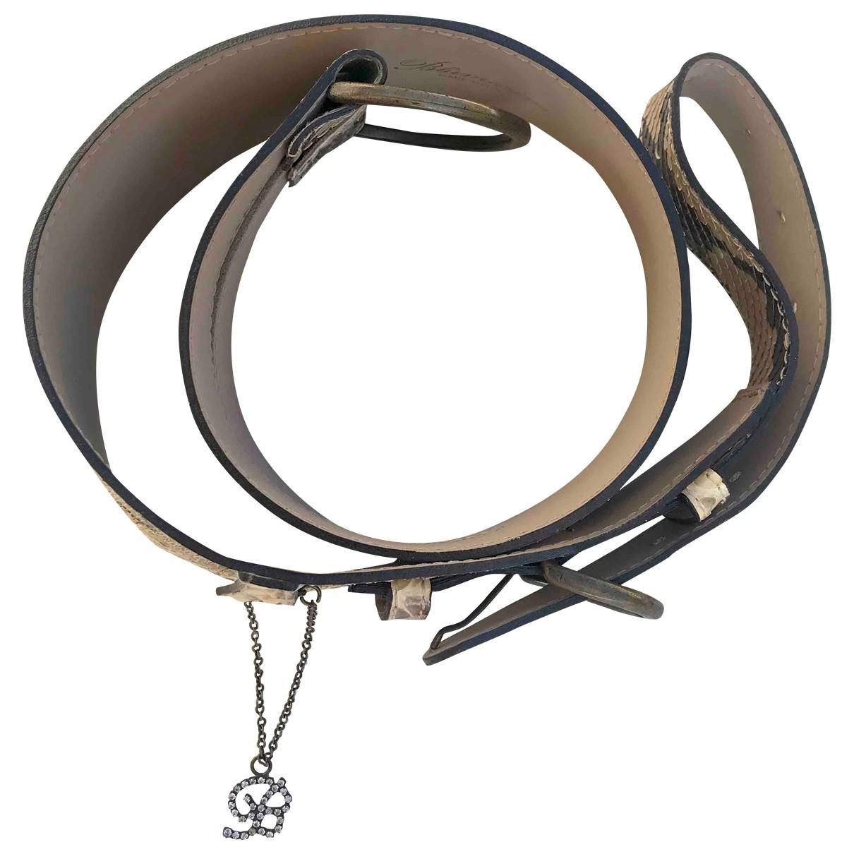 Blumarine \N Beige Python belt for Women M International