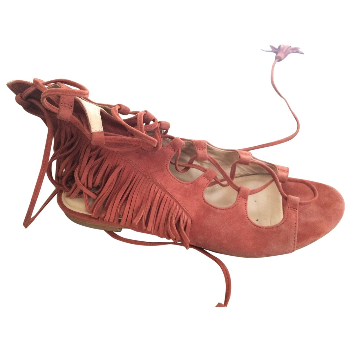 Sigerson Morrison \N Sandalen in  Orange Veloursleder