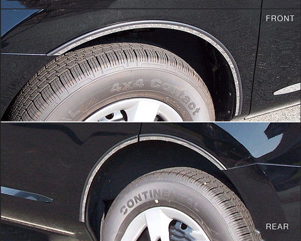 Quality Automotive Accessories 6-Piece Stainless Steel Wheel Well Fender Trim Kit Nissan Rogue 2011