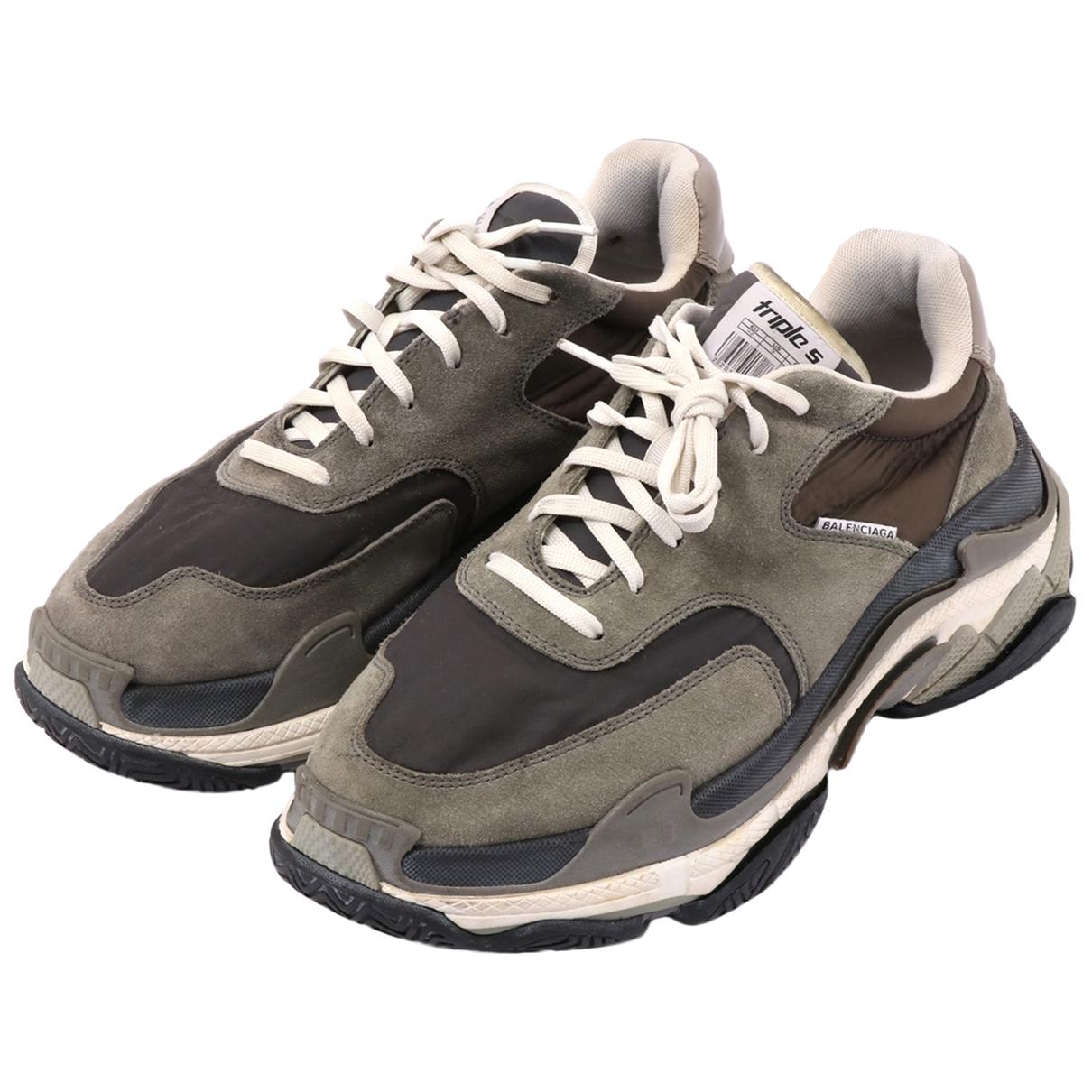 Balenciaga - Baskets   pour homme en cuir - gris